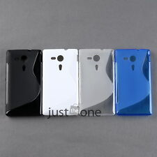 For Sony Xperia SP M35h TPU Silicone Skin Back Sexy S-Line Wave Gel Case Cover
