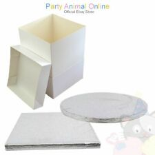 SINGLE Cake Board & White Box Pack- Cake Board and Box Wedding Birthday cakes