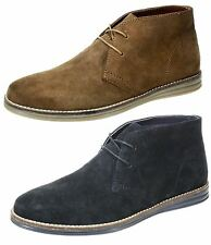 Mens Red tape Yarrow Brown Navy lace up leather suede desert boots