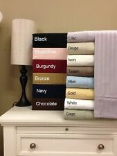 Striped 600 Thread Count California-King Sheet Set Woven from pure 100% Cotton