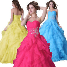 Luxury Princess Queen Puffy Layered Party Ball Gown Wedding Evening Long Dress