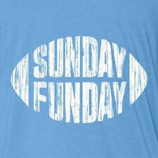 SUNDAY FUNDAY t-shirt blue football jersey funny nfl tailgate beer drinking game