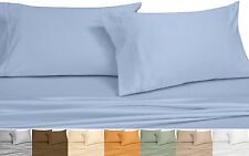 Wrinkle Free 650 Threadcount Full/Queen 3-PC Cotton Blend Solid Duvet Cover Set