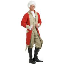 British Red Coat Costume Adult Revolutionary War Colonial Fancy Dress