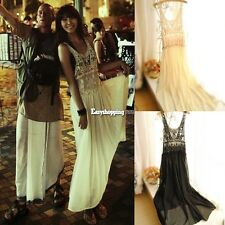 Sexy Women Summer Boho Long Maxi Party Evening Dress Beach Dresses Chiffon Dress