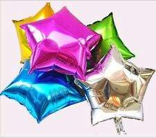 "Chic 10PCS 10"" Star Helium Foil Balloon Holiday Wedding Party Birthday Supply -H"