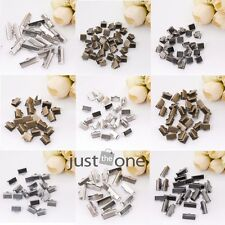 50 pcs/set Over Clip Tips Cord Crimp Ends Bead Cap 6mm,8mm,10mm,16mm,20mm,25mm