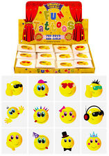 1-48 x Pack of 12 Smiley Face Temporary Tattoos Party Bag Stocking Filler Toy