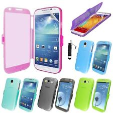Wallet Flip TPU Silicon Gel Case For Samsung Galaxy S3/S4/S5/Note 2/3+SP+Stylus
