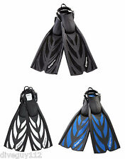 Sherwood Fusion Spring Strap Scuba Diving Fins Open Heel  All Sizes + Colors