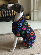 WHIPPET / LURCHER THIN FLEECE JUMPER WITH BELLY PANNEL  14'' TO 26'' ,  NEW