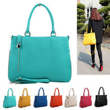 NEW Women Ladies w/Lock Shoulder Bag Tote Cross Body Faux Leather Handbag