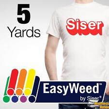"Siser Easyweed Heat Transfer Vinyl Material for T-Shirts 15"" x 5 yds - 55 COLORS"