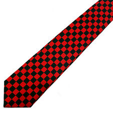 Neck Tie Black And Red CHECKER BOARD Adjustable NeckTie NEW