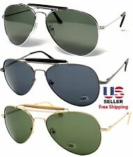 RETRO AVIATOR PILOT OUTDOORSMAN STYLE METAL FRAME SUNGLASSES SHADES UV400