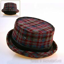 J2R Brand New Passion Tartan Check Fedora Pork-pie Hat Korea Made JRJ050