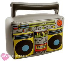 INFLATABLE BOOM BOX 1980S 90S RADIO TAPE RECORDER FANCY DRESS ACCESSORY BOOMBOX