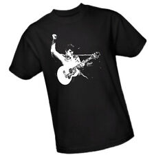 ELVIS Gettin' Down With His Gibson J-200 Guitar in Black & White - Adult T-Shirt