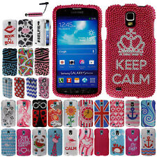 FOR SAMSUNG GALAXY S4 ACTIVE I537 Ladybug HARD Case Bling Protector Cover + Pen