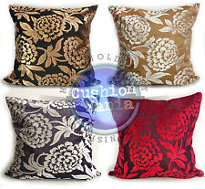 """LARGE CUT VELVET FLORAL SCATTER CUSHIONS OR COVERS IN 4 COLOURS 22""""x22"""""""