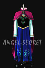 J787 Movies Frozen princess ANNA Cosplay Costume Deluxe Dress tailor made