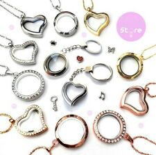 New 30mm Floating Memory living Glass Locket DIY floating charm Multi Necklaces
