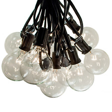 100 Foot Outdoor Globe Patio String Lights - Set of 100 G50 Clear Bulbs