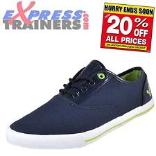 Voi Jeans Mens Fiery Patent Casual Designer Plimsoll Trainers Navy *AUTHENTIC*