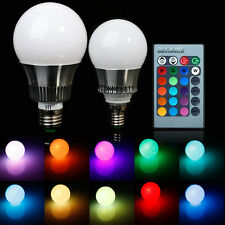 5W/10W E27 RGB LED Light Color Changing Lamp Bulb 85-265V with Remote Control