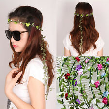 Fashion Boho Floral Flower Festival Wedding Party Garland HeadBand Hair Wreaths
