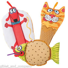 MINI SNACKLERS DOG TOY - Fat Cat Crackler Crinkle Canvas Squeaker Small Dog Toy