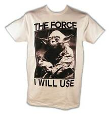 Star Wars Yoda The Force I Will Use On You Adult T-Shirt New