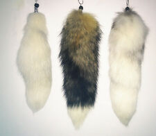 Real Fox Fur Tail Keychain Handbag Keyring Tassel Gift Good quality Wholesale