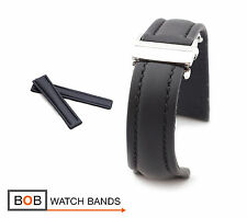 BOB Hydro Calf Deployment Strap for Breitling, black, 20, 22, 24 mm, new!