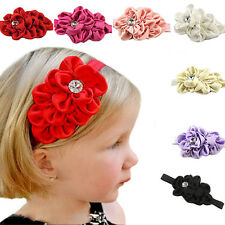 Kids Girls Baby Toddler Infant Flower Chiffon Headband Hair Bow Band Accessories