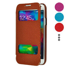New Leather Flip Hard Case Caller ID&Sliding Answer Window for Samsung Galaxy S5