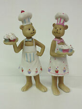 Mr & Mrs Cupcake Chef Bear ~ Cook in Apron Collectable Teddy Ornament  84-4861