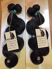Brazilian Virgin Human hair extension weave weft Body wave Natural color Bundle