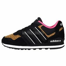 Adidas Runeo 10K W Neo Black Pink Leopard 2014 Womens Casual Shoes Sneakers