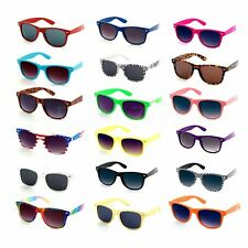 Wayfarer Aviator Sunglasses Retro Vintage 80's Wayfarers Geek Mens Womens UV400