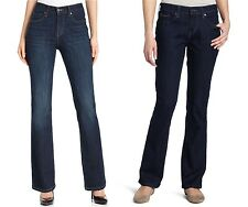 Levis 515 Boot Cut Jeans Womens Mid-Rise Button-Flap Back Pockets Stretch Denim