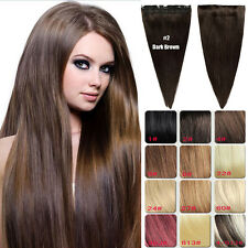 150g Thick Full Head One Piece Clip In Remy Human Hair Extensions Hairpiece 30""
