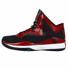 8740f0a8672 Adidas D Rose 773 III J 3 Black Red Chicago Bulls Youth Boys Basketball  Shoes
