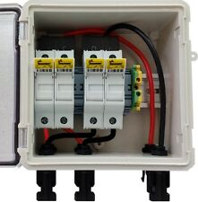 PV Solar 2-String DC Combiner Box Pre-wired with 4 fuses