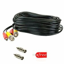 50ft BNC Video and Power Cable RCA Connector CCTV Security Camera DVR Wire Cord