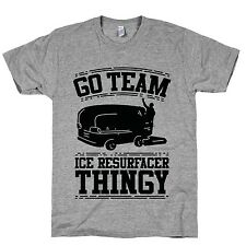Go Team Ice Resurfacer Thingy Crewneck T-Shirt Novelty