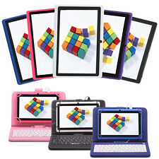 "IRULU 8GB 7"" Tablet PC 1.5GHz Android 4.4 Dual Cameras Wifi 8 Colors w/ Keyboard"