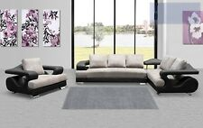 Modern sectional couch dove grey black sofa chair fabric leather sofa furniture