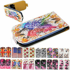 Flip Leather Card Holder Pouch Cover Case For Samsung Galaxy S III Mini S3 Mini