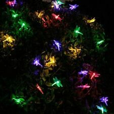 20 Solar Powered Dragonfly LED Fairy String Lights Outdoor Garden Party Lighting